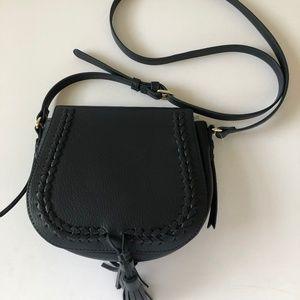 Old Navy Blue Vegan Leather Saddlebag